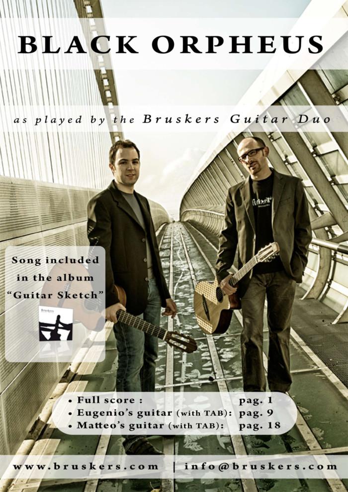 Black Orpheus (Manha de Carnaval) - Score Cover - Bruskers Guitar Duo