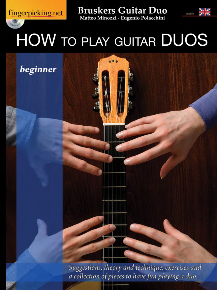 How to Play Guitar Duos - book cover- Bruskers Guitar Duo