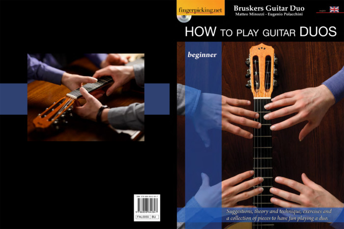 How to Play Guitar Duos - book full cover- Bruskers Guitar Duo