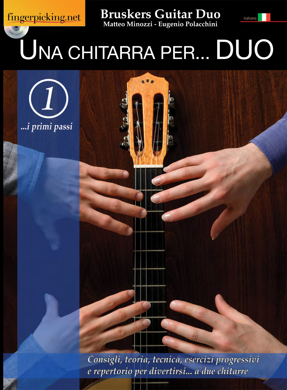 Una Chitarra per Duo - book cover- Bruskers Guitar Duo