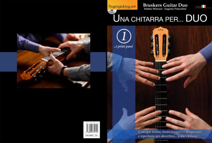 Una Chitarra per Duo - book full cover- Bruskers Guitar Duo