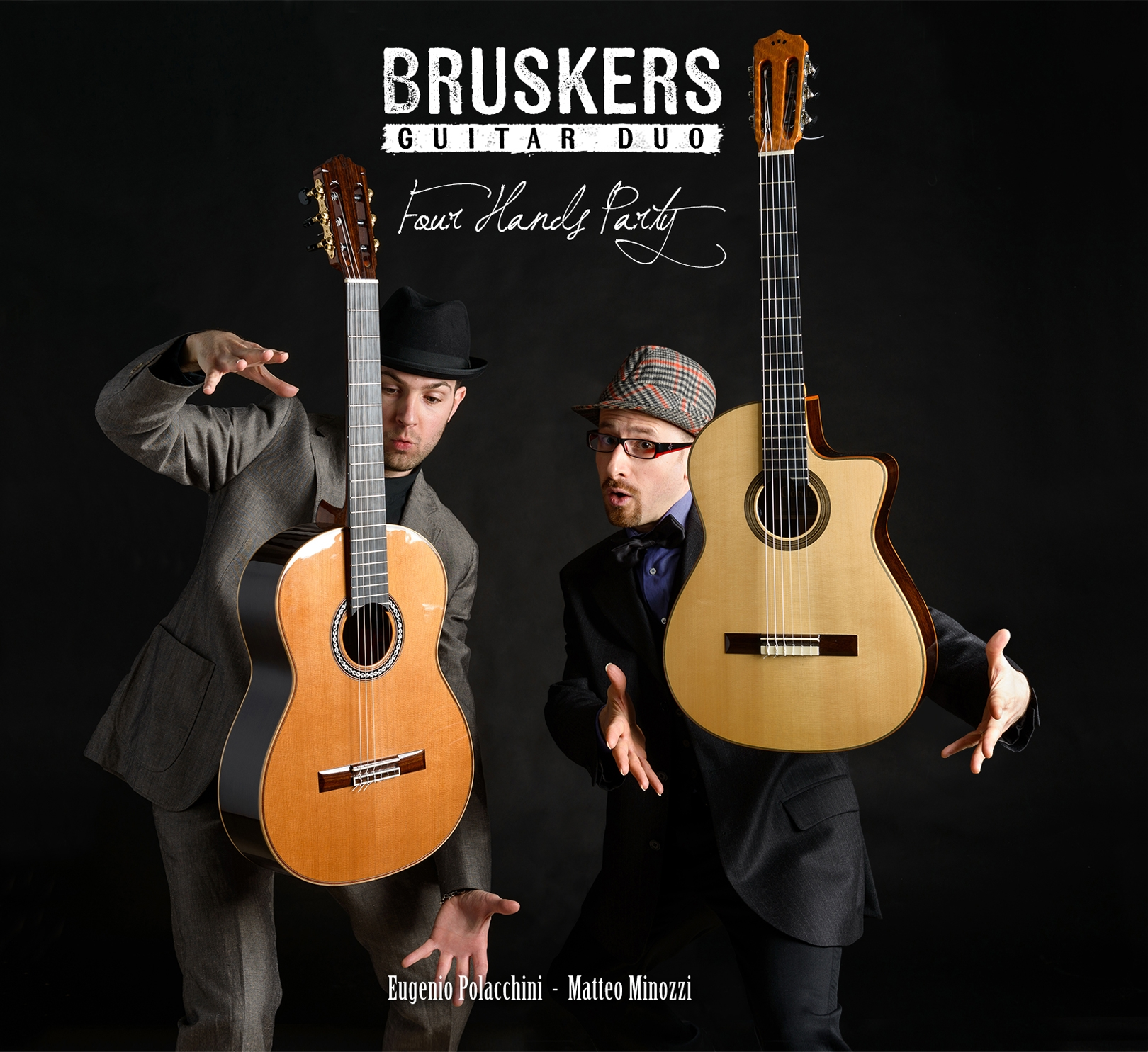 Four Hands Party - CD cover - Bruskers Guitar Duo
