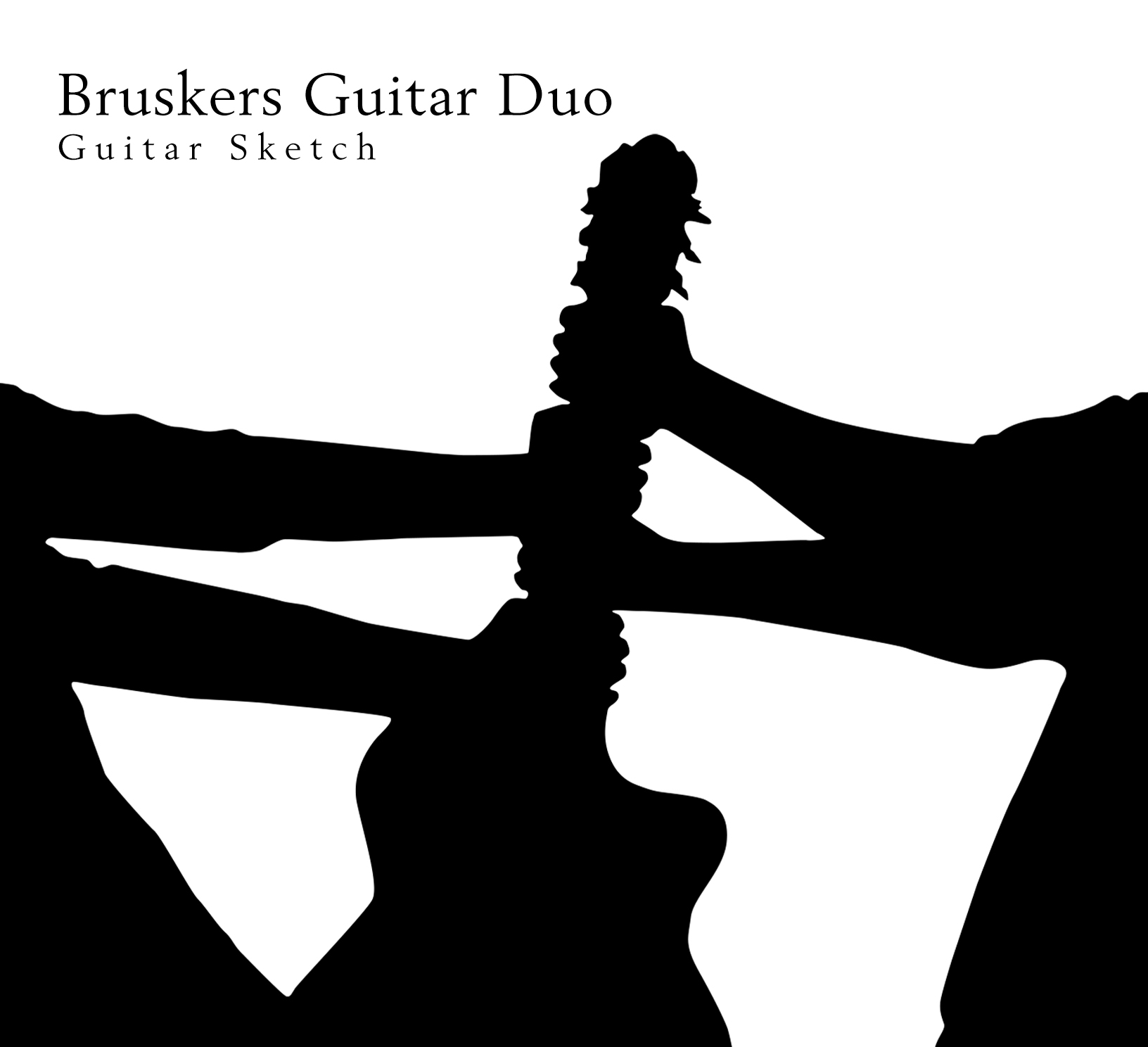 Guitar Sketch - CD cover - Bruskers Guitar Duo