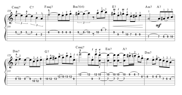 """Score fragment of """"Fly Me To The Moon"""""""