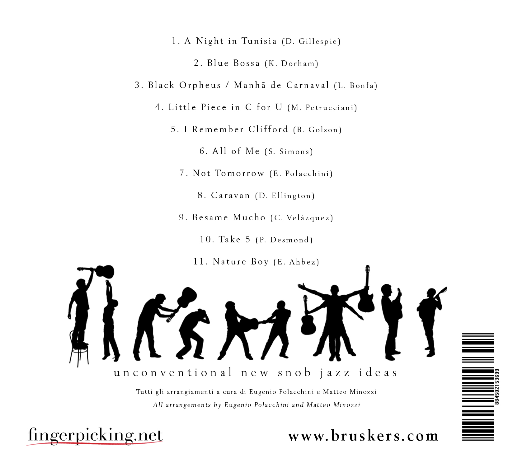 Guitar Sketch - CD back side - Bruskers Guitar Duo