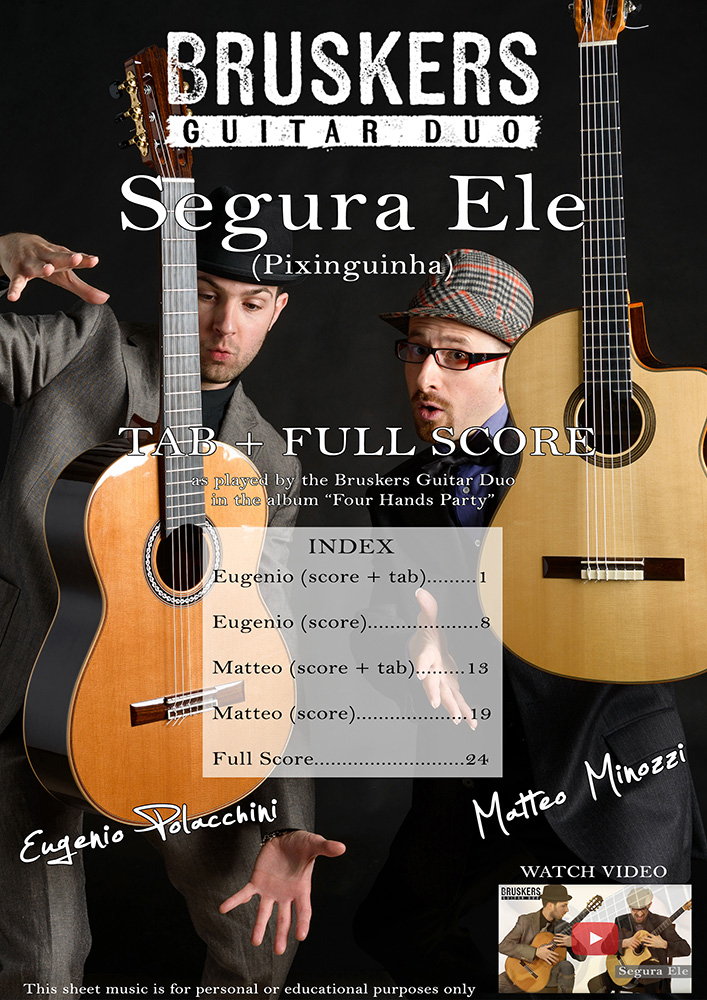 Segura Ele - Score Cover - Bruskers Guitar Duo