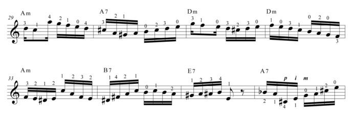 "Score fragment of ""Segura Ele"""