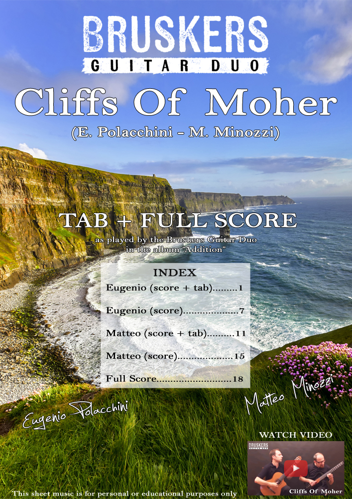Cliffs of Moher - Score Cover - Bruskers Guitar Duo