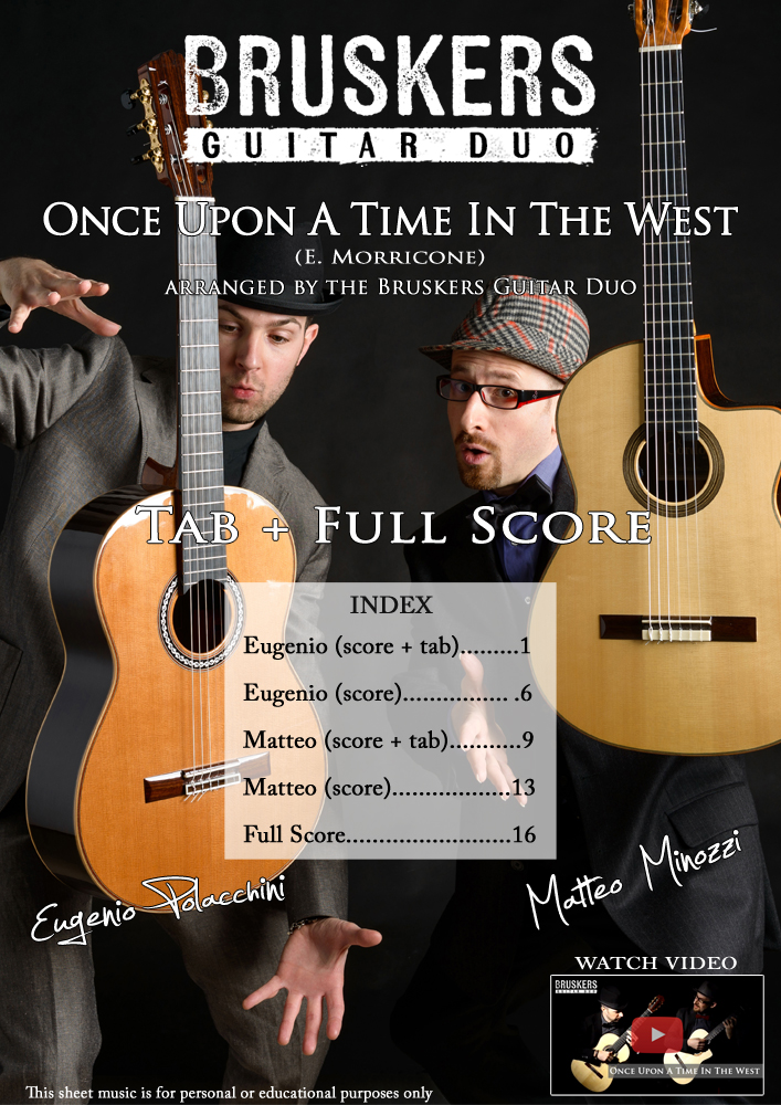 "Score cover of ""Once Upon A Time In The West"""