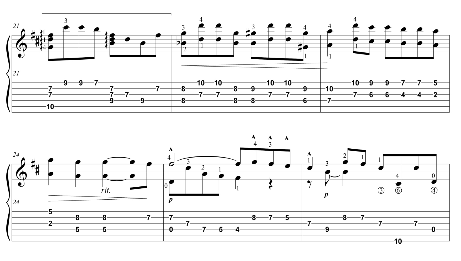 "Score fragment of ""Once Upon A Time In The West"" - 01"