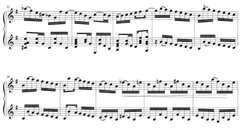 "Score fragment of ""Um A Zero"" 01"
