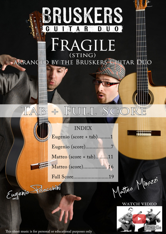 "Score cover of ""Fragile"""