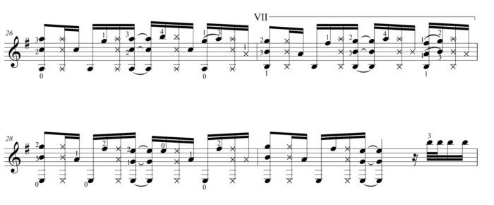 "Score fragment of ""Fragile"" 02"