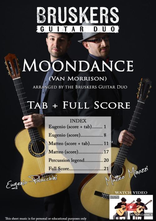 "Score cover of ""Moondance"""