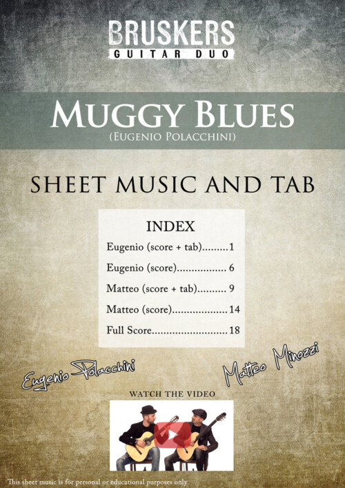 "Score cover of ""Muggy Blues"""
